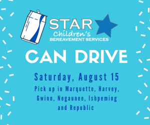Can Drive for STAR Children's Bereavement Services